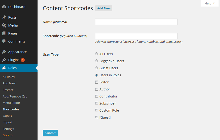 Content Restriction Shortcodes Add