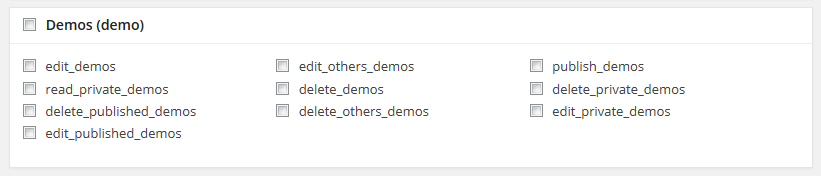 Demo Custom Post Type Section