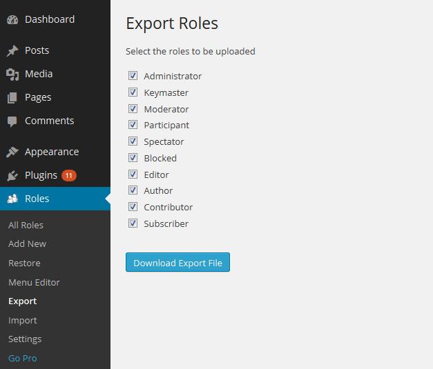 export roles