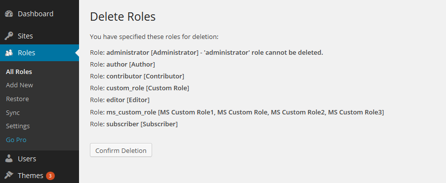 Multisite Delete Role