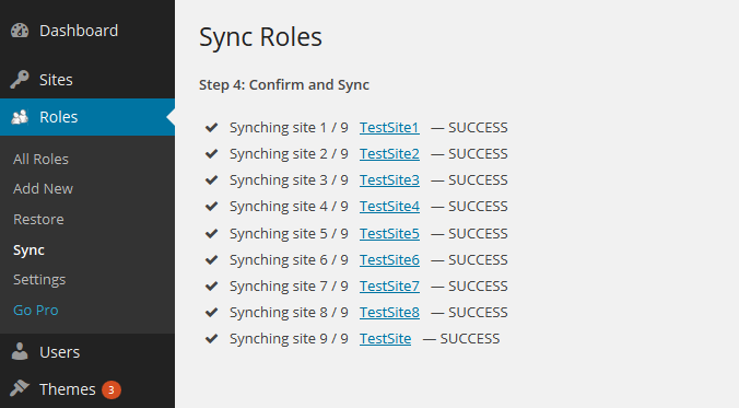 Multisite Sync Step 4