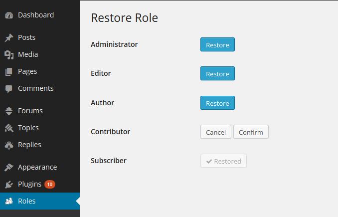 restore role
